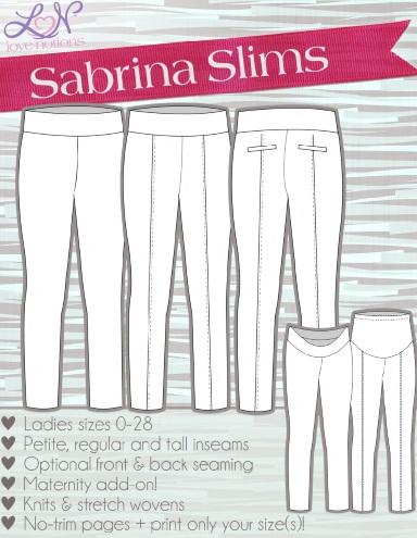 Sabrina Slims Line Art