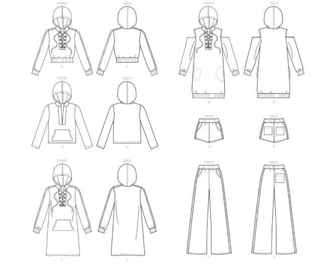line art hoodie