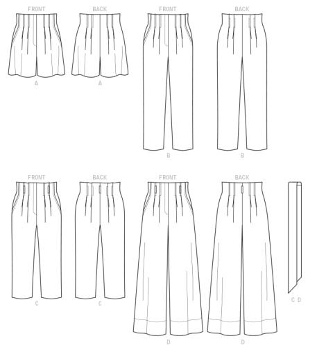 line art pants
